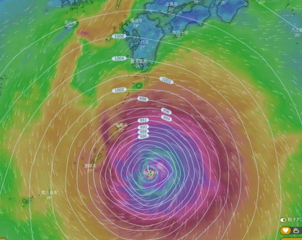 台風10号2020のwindyの予想進路は当たるの?使い方や見方もわかりやすく紹介!